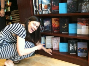 Co-editor Alyse Knorr with Meg Day's book, We Can't Read This (2013)