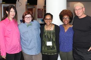 Anne Lesley Selcer, co-editors M. Mack, Lisa Hill-Corley, and Hadiyah Huma, and Kevin McLellan